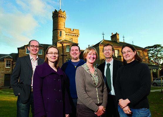 L-R Jim Macpherson, Kathrin Zickermann, Iain MacInnes, Alison MacWilliam, David Worthington and Elizabeth Ritchie, Centre for History