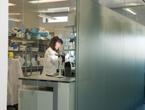 Medical research in the Wolfson-Wohl building at Garscube campus.